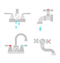 Bathroom shower icons with process water savings vector