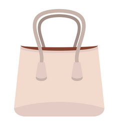 small woman bag icon isolated vector image
