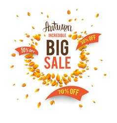 Big seasonal fall sale vector