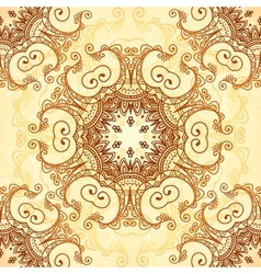 Ornate vintage pattern in mehndi style vector