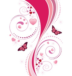 Pink swirl ornament vector