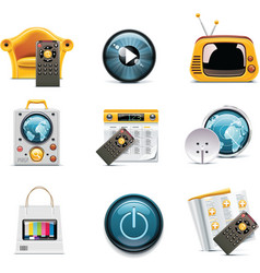 Television icons vector