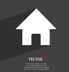 Home main page icon symbol flat modern web design vector