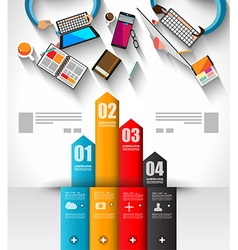 Infographic template with flat ui icons for ttem vector