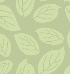 Green leaves seamless pattern natural retro vector