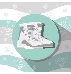 Winter sport and wear accesories vector