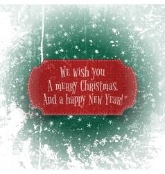 Christmas and happy new year red greeting banner vector