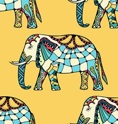 Elephants in indian style vector