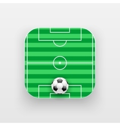 Square icon of football sport vector