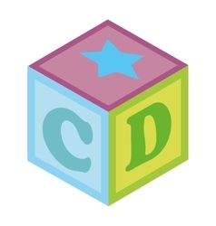 Baby toys colorful icon vector
