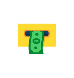 Atm cashout icon flat style vector