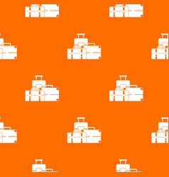 baggage pattern seamless vector image vector image