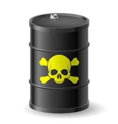 Barrel with poisonous substances vector image vector image