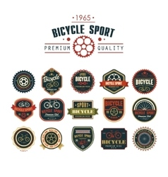 Bicycle set badges logos and labels vector