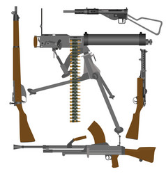british guns of world war ii vector image