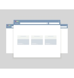 browser windows design vector image vector image