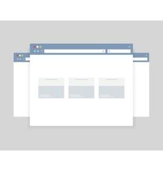 Browser windows design vector