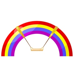 Cartoon rainbow swing eps10 vector image vector image