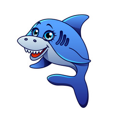 cartoon shark isolated vector image vector image