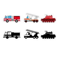Fireman transportation vector image