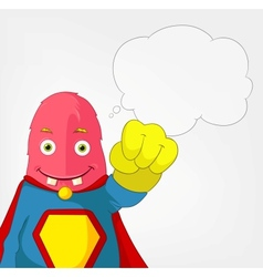 Funny Monster Super hero vector image