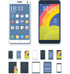 generic smartphones and tablet computers vector image vector image