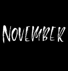 Hand drawn typography lettering october month vector