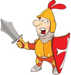 Knight cartoon character vector
