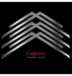 Metallic logo element vector