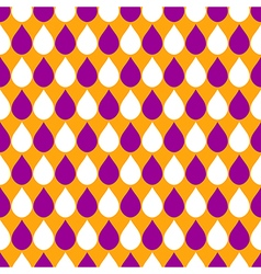 Orange Purple White Water Drops Background vector image vector image