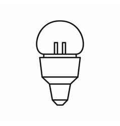 Reflector bulb icon outline style vector