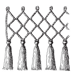 Rope netting at once simple and effective vintage vector