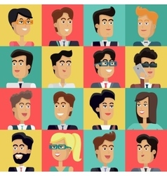 Set of Peoples Faces in Flat Design vector image vector image