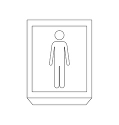 silhouette rectangle contour person silhouette vector image