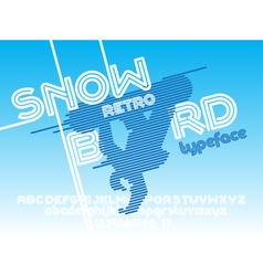 Snow board font vector image vector image