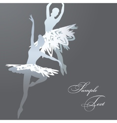 Snowflake ballet dancers vector image