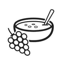 Spanish cold soup vector