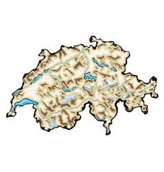 Switzerland map vector image