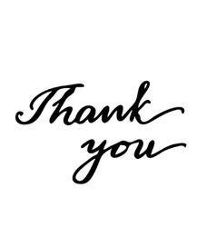 Thank you hand drawn lettering card vector