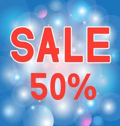 The inscription is a discount of 50 on beautiful vector image