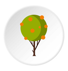 tree with fruit icon circle vector image