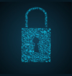 virtual lock protection data concept vector image