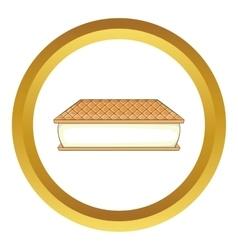 Waffle ice cream icon vector