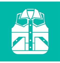 Waistcoat sketch icon isolated vector
