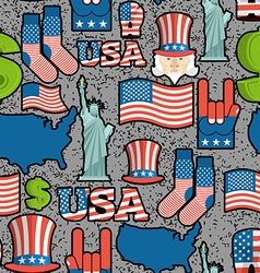 Usa patriotic symbol seamless pattern grunge style vector