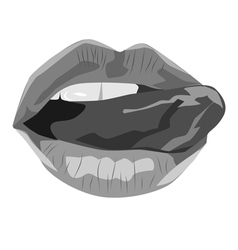 Black and white sexy lips vector