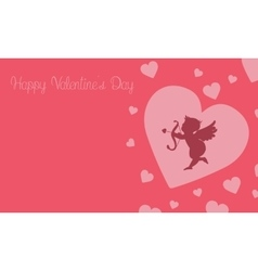 Art of cupid background for valentine vector