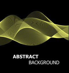 Abstract yellow line wave background vector
