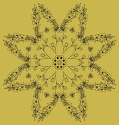 Pattern in oriental style not seamless vector