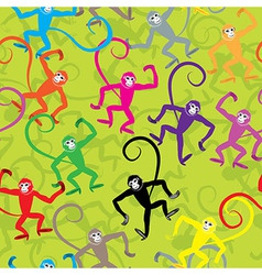 Seamless monkey animal vector